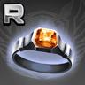 琥珀の指輪の画像