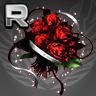紅薔薇のブーケの画像