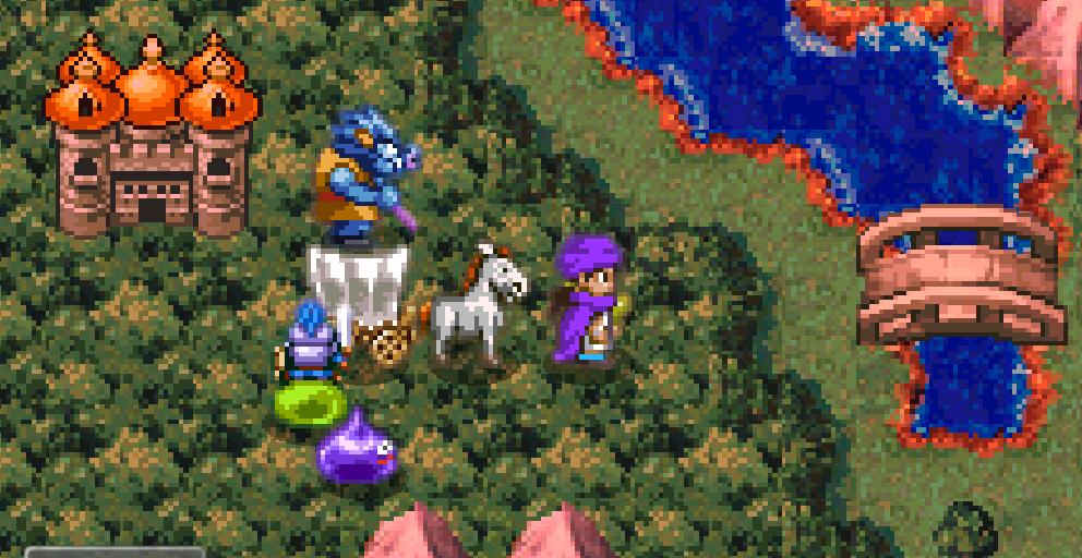 スマホ版のドラクエ5の馬車画像