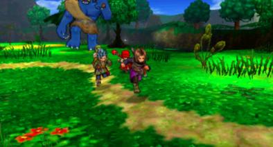 3DS版3Dモードのフィールドのグラフィック