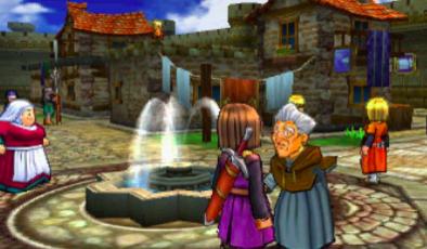 3DS版3Dモードの町のグラフィック