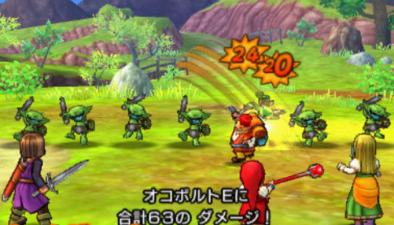 3DS版3Dモードの戦闘画面のグラフィック