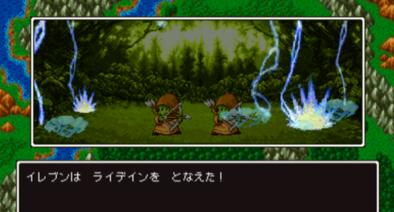 3DS版2Dモードの戦闘画面のグラフィック