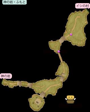 神の岩・ふもとのマップ
