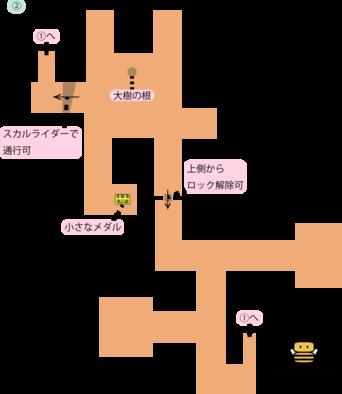 荒野の地下迷宮②のマップ