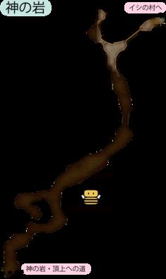 神の岩のマップ
