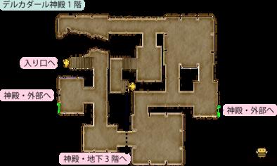 デルカダール神殿・1階のマップ