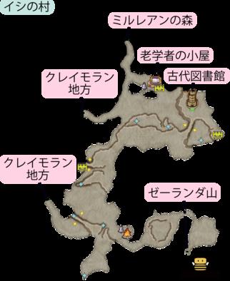 シケスビア雪原のマップ