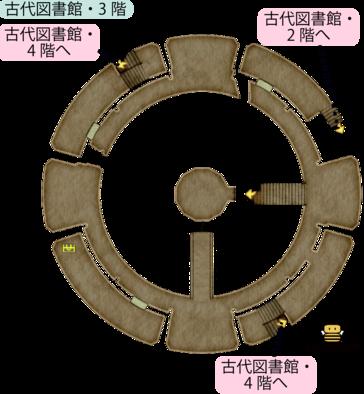 古代図書館・3階のマップ
