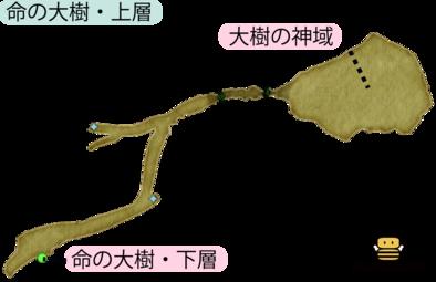 命の大樹・上層のマップ