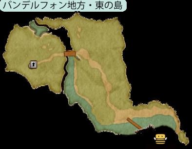 バンデルフォン地方・東の島のマップ