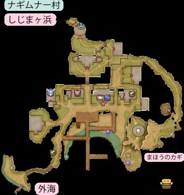 ナギムナー村のマップ