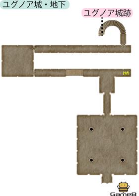 ユグノア城・地下のマップ(PS4)