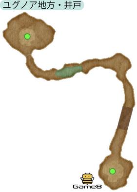 ユグノア地方・井戸のマップ(PS4)