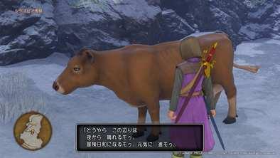 シケスビア雪原の牛の場所画像1