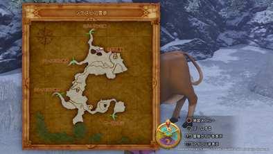 シケスビア雪原の牛の場所画像2