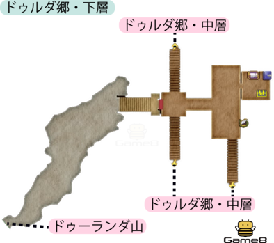 ドゥルダ郷・下層のマップ