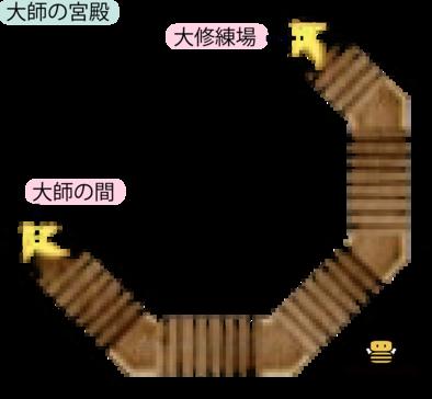 ドゥルダ郷・大師の宮殿のマップ