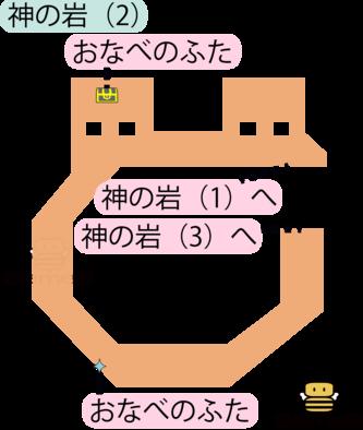 神の岩(2)のマップ
