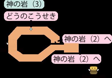 神の岩(3)のマップ