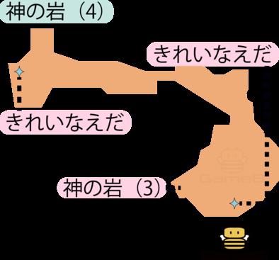 神の岩(4)のマップ