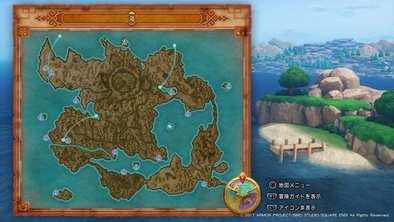北海の孤島の場所画像