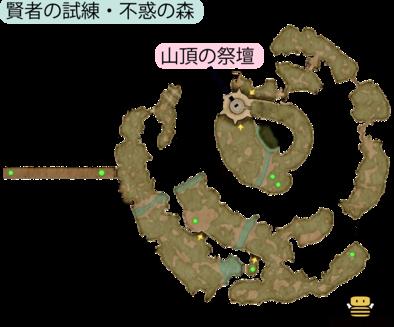 賢者の試練・不惑の森のマップ