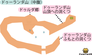 ドゥーランダ山(中腹)(3DS)のマップ