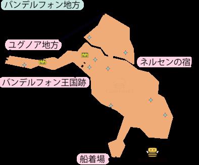 バンデルフォン地方のマップ