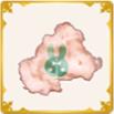 立ち耳の綿のアイコン