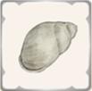 砂場の巻貝のアイコン