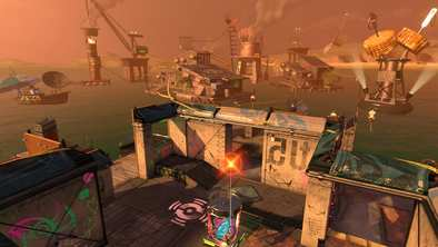 海上集落シャケト場のステージ画像