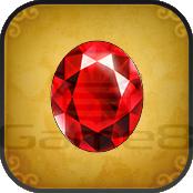 赤い宝石の画像