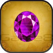 紫の宝石の画像