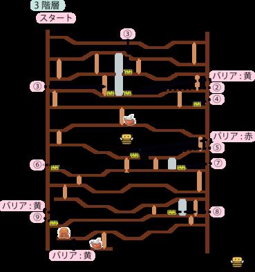 時渡りの迷宮3階層のマップ