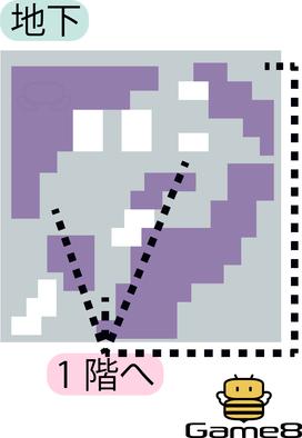 ロンダルキアへの洞くつ地下のマップ