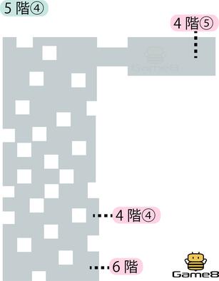 ロンダルキアへの洞くつ5階④のマップ
