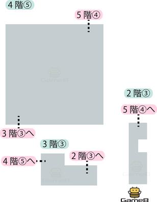 ロンダルキアへの洞くつ4階⑤のマップ