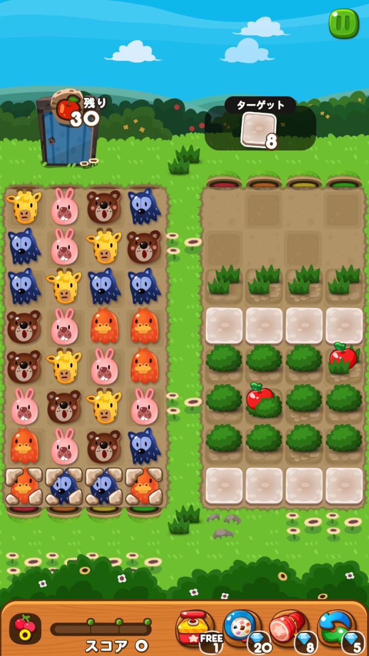 ポコポコ ゲーム画面