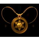 六芒星の首飾りの画像