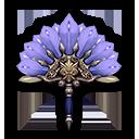孔雀の扇・青の画像