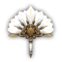 孔雀の扇・白の画像