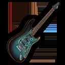 エレキギター・青の画像
