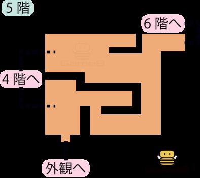 天馬の塔5階②のマップ