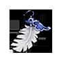 螺旋の羽根飾りの画像