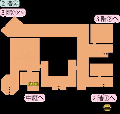 トロデーン城2階②のマップ