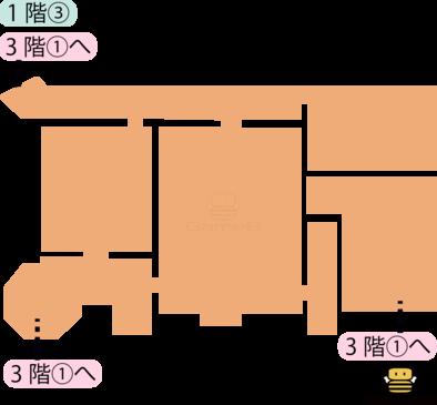 トロデーン城1階③のマップ