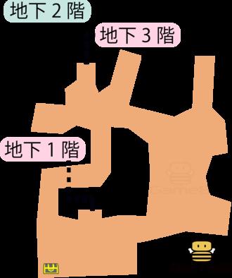見えざる魔神の道地下2階のマップ
