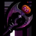 ハロウィンの鎌・紫の画像
