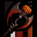 ハロウィンの鎌・赤の画像